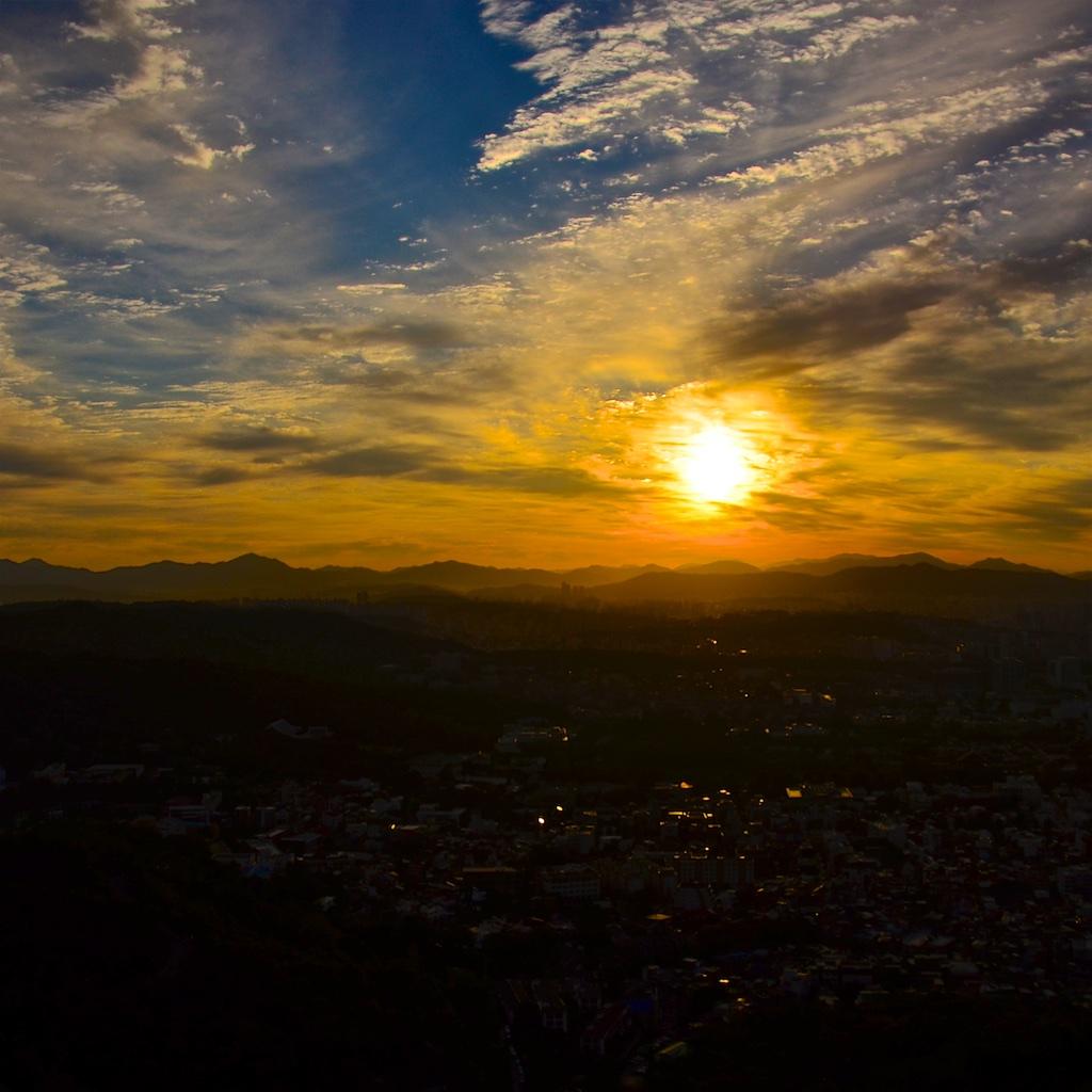 Sunrise over Seoul