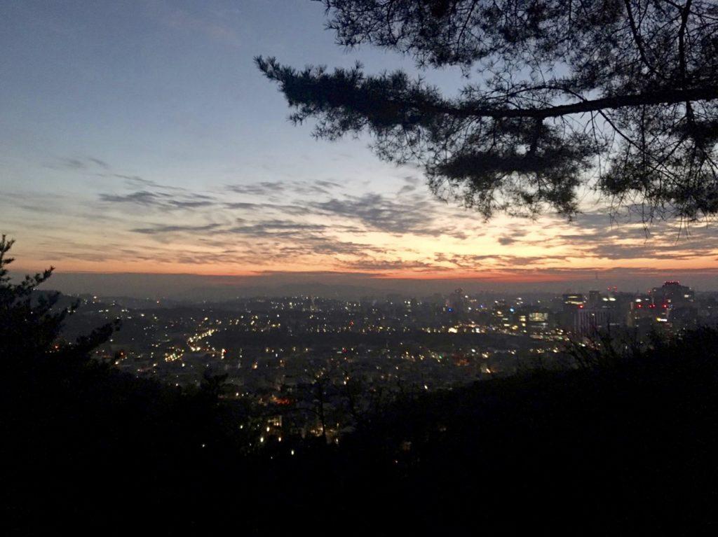 New Year in Seoul, view of Inwangsan